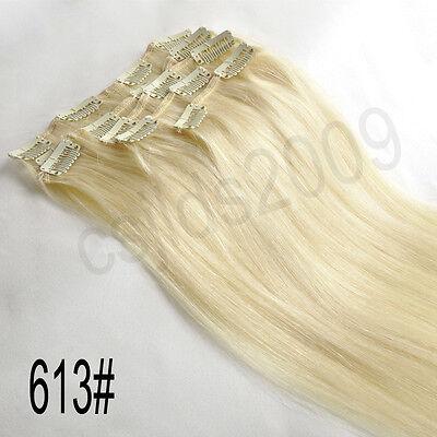 "14""-30"" Full Head 100% Clip in Human Hair Extensions"