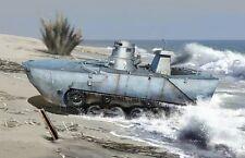 1/72 IJN Type 2 Amphibious Tank (Ka-Mi) w/Floating Pontoon Plastic Model Kit