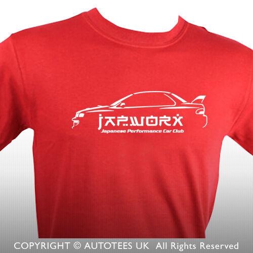 JAPWORX T-SHIRT FOR IMPREZA 22B WRX STI JMD DRIFT CAR ENTHUSIASTS