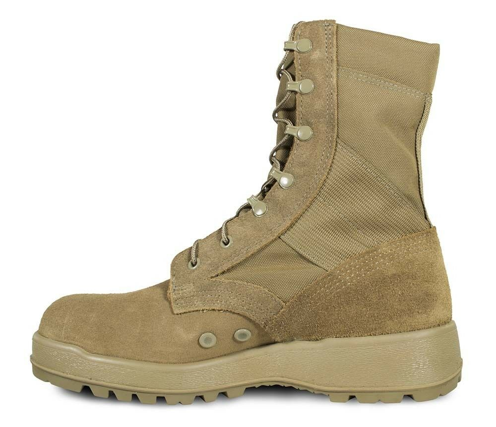 Mil-Spec Hot Weather Coyote Boot w/ Vibram Sierra Outsole 16 Reg in Desert Tan