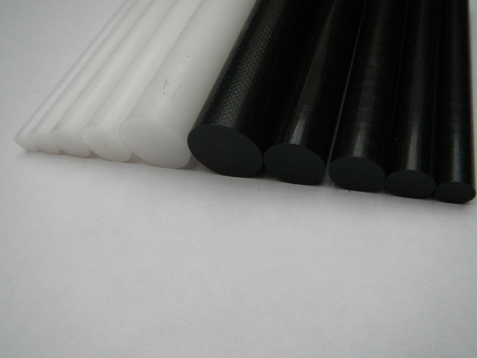 Acetal Rod Black White delrin nylon Plastic Round Bar 6mm 8mm 10mm 12mm 22mm 25m