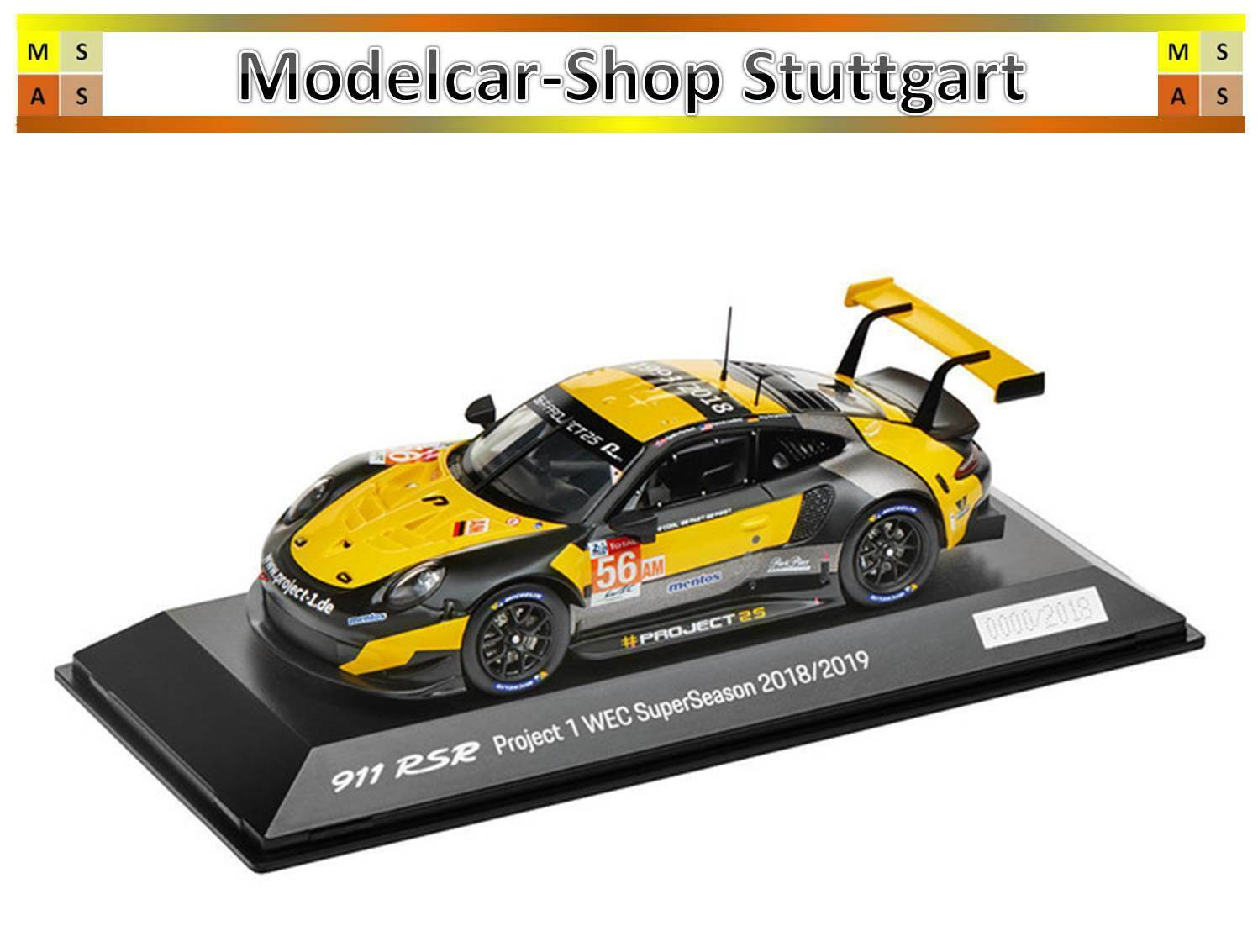 PORSCHE 911 RSR 2018 Project 1 Super Season collecteur 2018 2019 Spark 1 43 wap0209210k