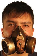 TrYptiX Steampunk Gas Mask Dual Cartridge Spikes W/ Chain respirator Burning Man