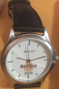 Hard-Rock-Cafe-FORT-LAUDERDALE-1999-OPENING-TEAM-STAFF-Mens-Wrist-WATCH-TIN-BOX