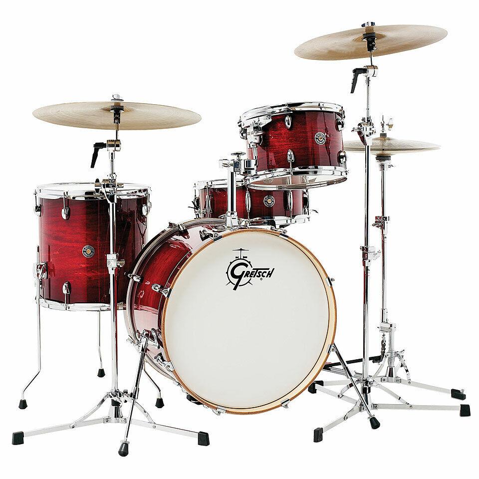 Schlagzeug Gretsch Drums Catalina Club 20  Gloss Crimson Burst Drum Set Drumset
