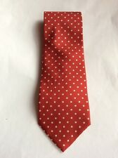 Men's Neck Tie - 100% Pure Silk - Red/White by 'Imported From Italy'