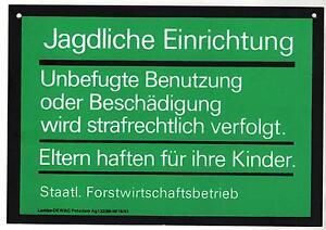 5-x-Jagdschild-DDR-Nostalgie-14-x-20-cm-unbenutzt-wie-Neu-Kunststoff