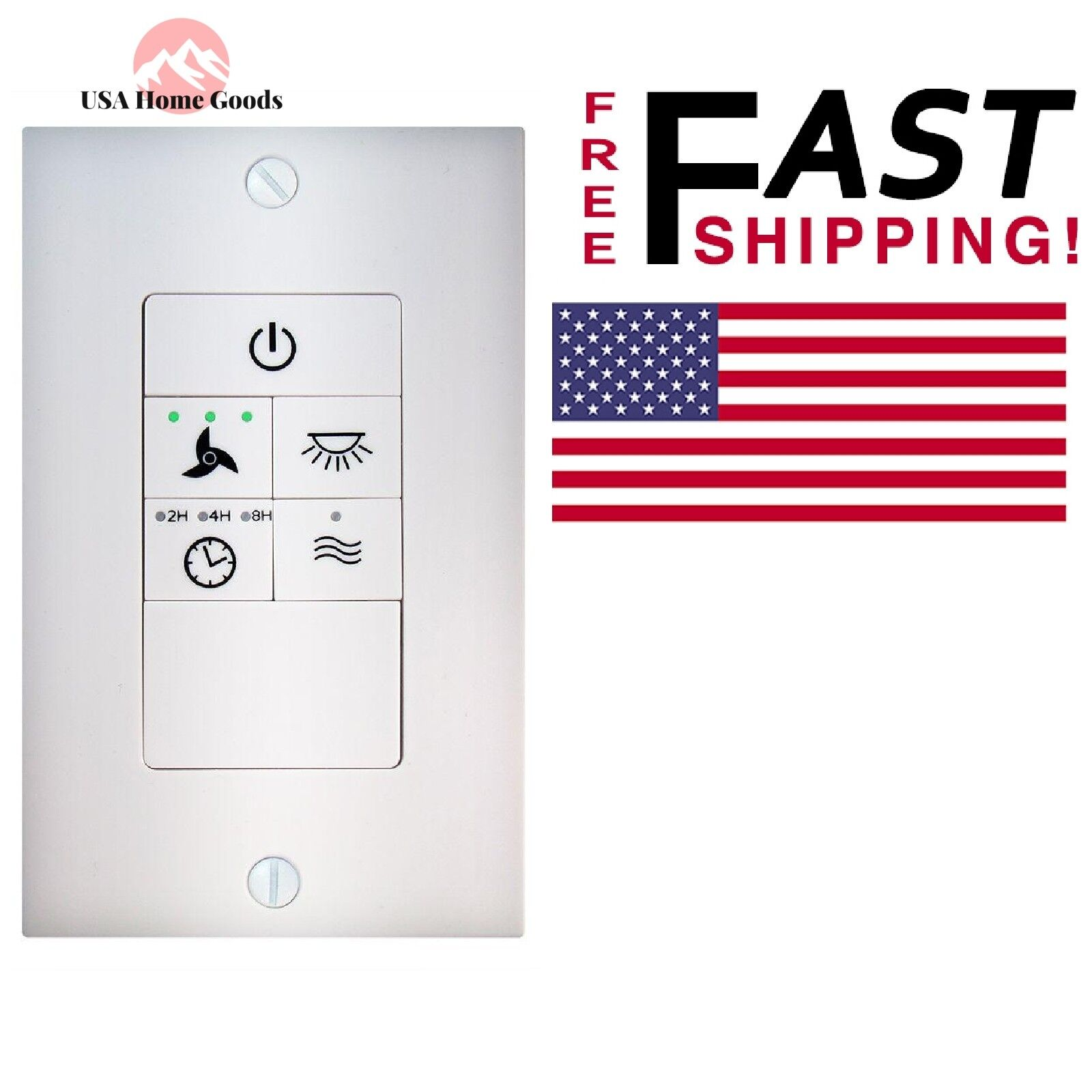 Universal Ceiling Fan Wireless Wall Control Light On Off Dimming Option Switch