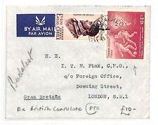 AK83 1977 Chile South America Budapest London GB Ex British Consulate Cover