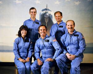 Nasa Sally Ride et STS-7 Mission Portrait 11x14 Argent Halide Affiche 1eCKsYOl-09094649-761334840