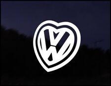 VW love Heart Car Decal Sticker JDM Vehicle Bike Bumper Graphic Funny