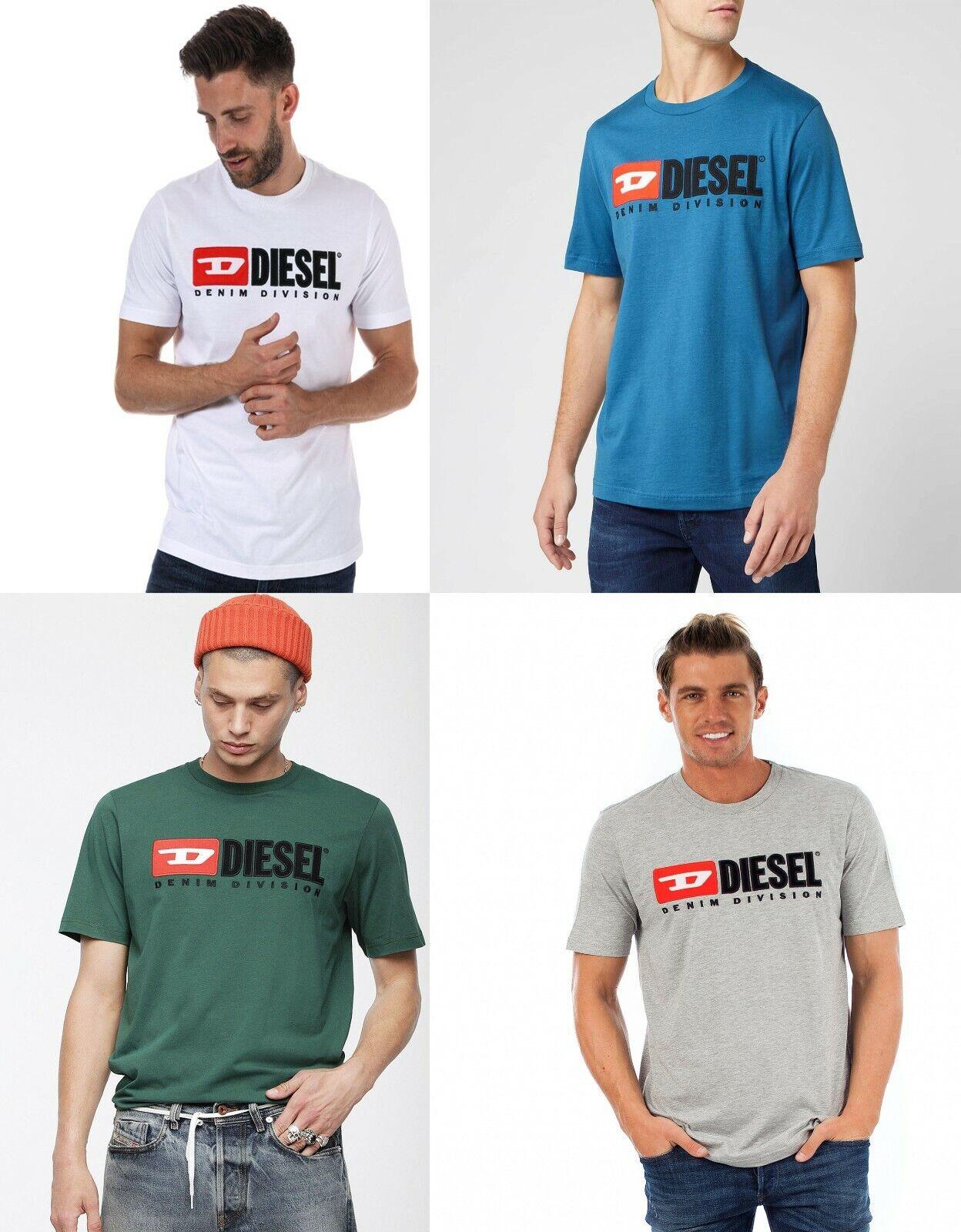 Diesel T Just Division Men Crew Neck Short Sleeves Cotton T shirt Tee S M L XL
