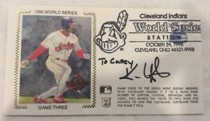 Cleveland Indians Kenny Lofton Signed FDC Cover Z Zaso