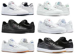 Détails sur Reebok Club C 85 blanc, marine, gris, noir, Gomme Baskets Baskets Chaussures de Tennis afficher le titre d'origine