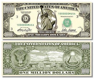 100 Factory Fresh Novelty Frankenstein Million Dollar Bills