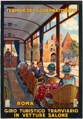 TV81 Vintage 1927 Roma Rome Italian Italy Travel Poster Re-Print A4