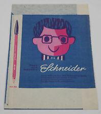 Vintage Schreibwaren Papier Tüte Schneider Kugelschreiber Werbung paper pen case