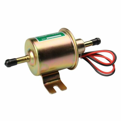 Universal 12V Heavy Duty Electric Fuel Pump Metal Solid Petrol 12 Volts HEP-02A