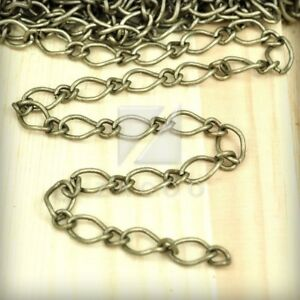 2M-6-56-feet-Unfinished-Chains-Necklaces-Curb-Chain-9x5-5x0-9mm-Antique-Brass