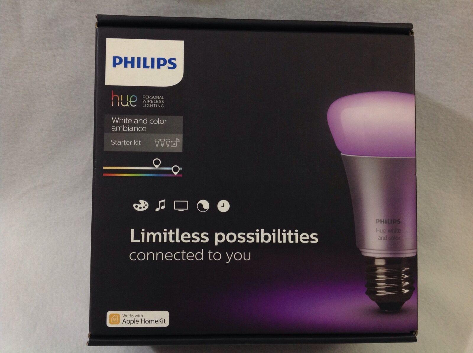 Philips Hue 456194 Color blancoo iluminación personal inalámbricas y Kit de inicio de ambiente