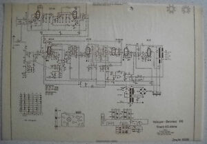 ITT-GRAETZ-Baroness-610-Schaltplan-auf-Transparentpapier