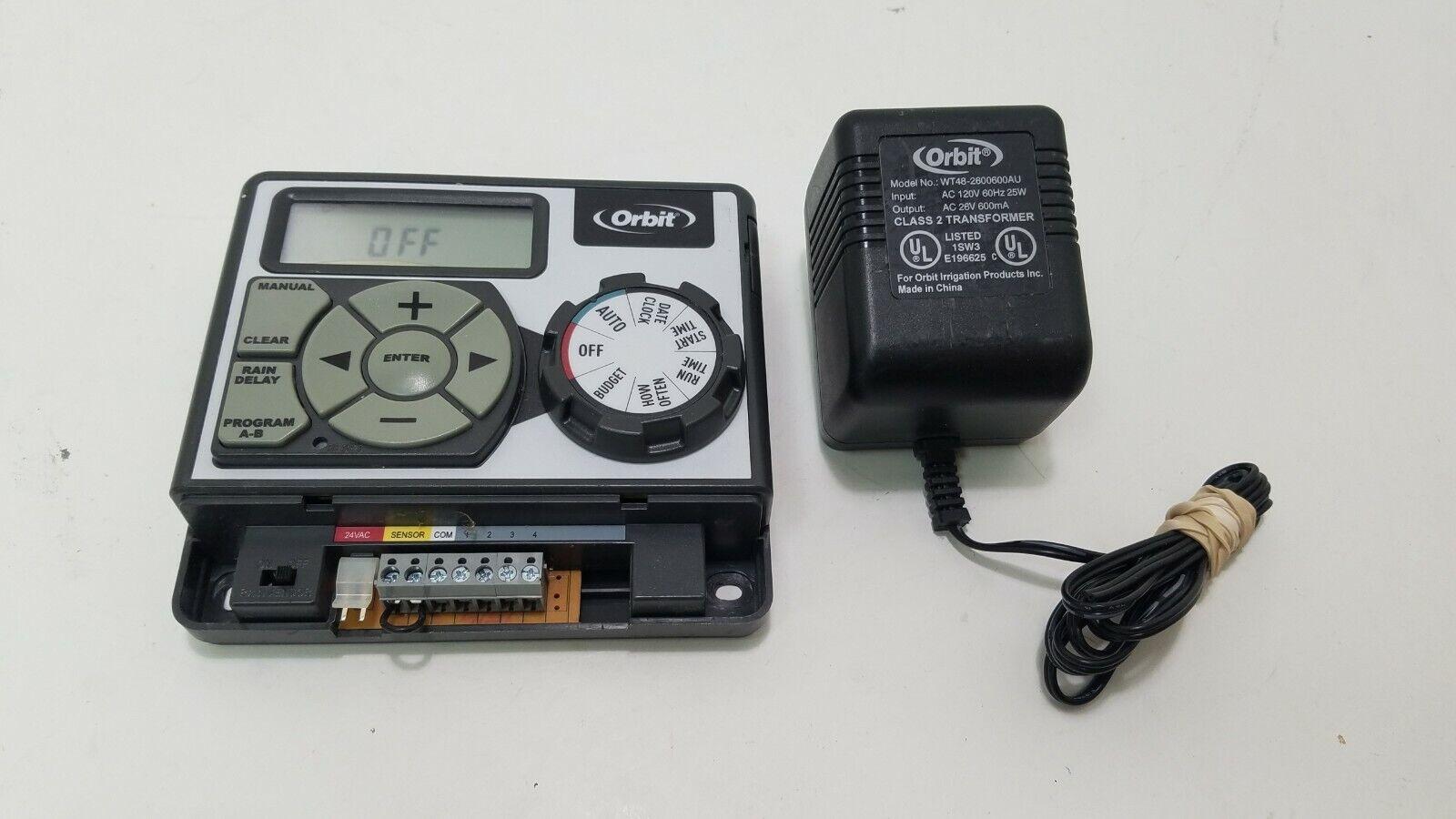 Orbit 28964 4 Station Easy Dial Sprinkler Timer Indoor Mount P2155