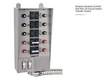 Reliance Controls 51410c Protran 10 Circuit Indoor Transfer Switch 12500w 50a