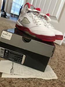 8501ef18377e73 35f17 5c10b  order image is loading air jordan 5 retro white legacy red  scarlet d25d5 4a851