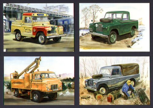 Postcard Set 110 inch Truck Cab Forward Control LAND-ROVER SERIES 2 88 109