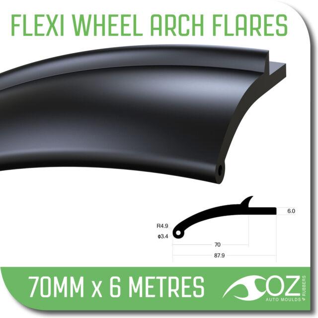 Wheel Arch Flares. 4x4 flexible 70mm x 6 metre mud guard flares toyota nissan