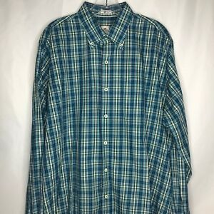 6c1db9cc4c83 Peter Millar Long Sleeve Mens Button Front Shirt Size Large Blue ...