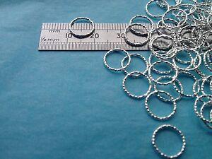 925-Sterling-Silver-Closed-Jump-Rings-Diamond-Cut-Pattern-1-20-Multi-Listing