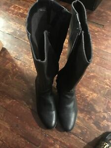 Dr. Scholl's Womens Brilliance Round Toe Knee High Riding Boots Black, Size 9