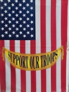 75-off-of-5-Support-Our-Troops-Standard-House-Flags-by-Toland-24-034-x-36-034-New