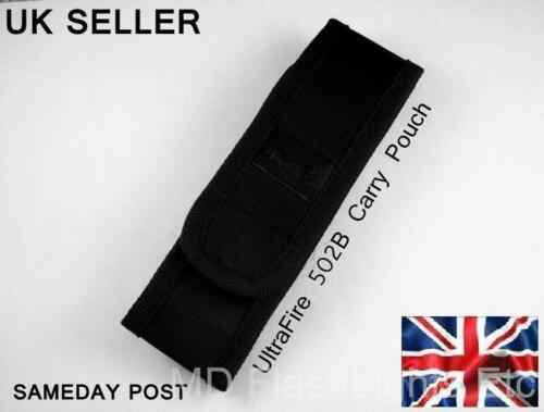 NEW ULTRAFIRE 501B 502B CARRYCASE POUCH WITH BELT LOOP UK SELLER SAMEDAY POST