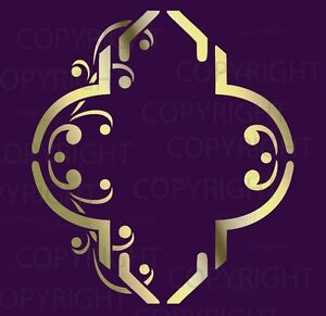 Designer-Wall-Decoration-Moorish-TRELLIS-STENCIL-Damask-Mural-2002