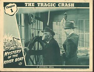 Details About 1944 Movie Lobby Card 4 1690 Mystery Of The River Boat Serial Ch1