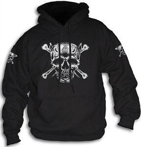 Skull-Bones-Daggers-Pirate-Biker-Goth-Mens-Womens-Hoody-Hooded-Top-Sm-2XL