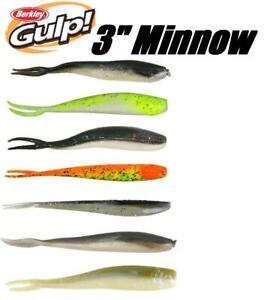 """12//Ct Pack BERKLEY GULP 3/"""" Minnow - Smelt"""