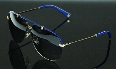 a51d165994 RARE NEW Authentic Christian DIOR Croisette 4 Gold Blue Aviator Sunglasses  DYEEU