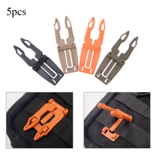 5pcs backpack carabiner buckle clip strap edc molle webbing connecting buckles..