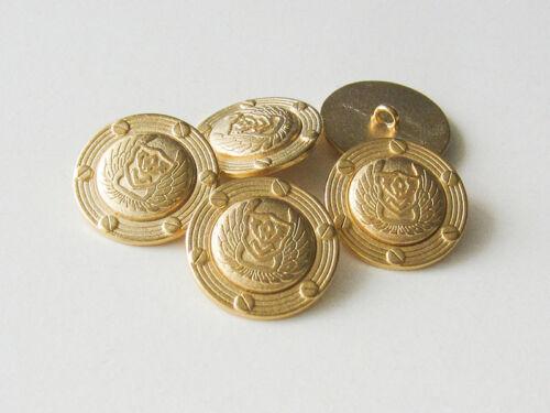 0699go-18 5 goldfb alas /& tornillos ojales de metal botones con emblema