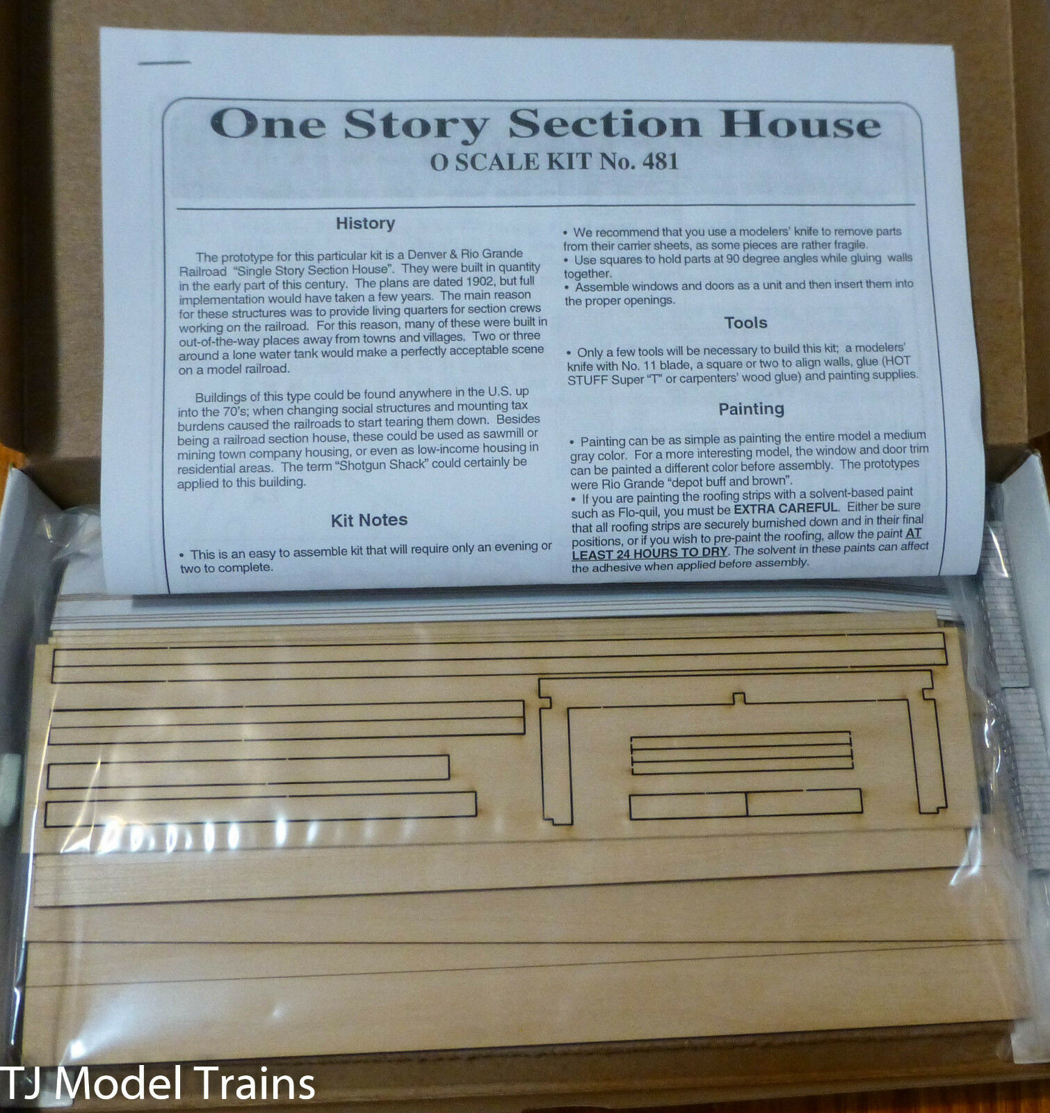 American Model Builders, Inc O One Story Section House