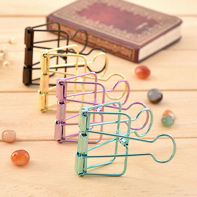 Hollow Metal Binder Clips For Home Office School File Paper Organizer 57*33*10mm