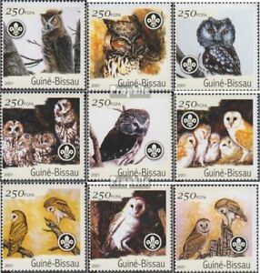 Stamps Topical Stamps Never Hinged 2001 Birds Glorious Guinea-bissau 1428-1436 Unmounted Mint