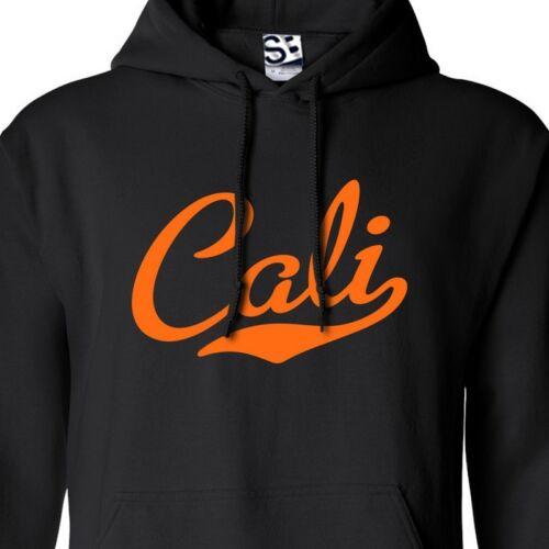 Hooded California Republic Sweatshirt Cali Script /& Tail HOODIE All Colors