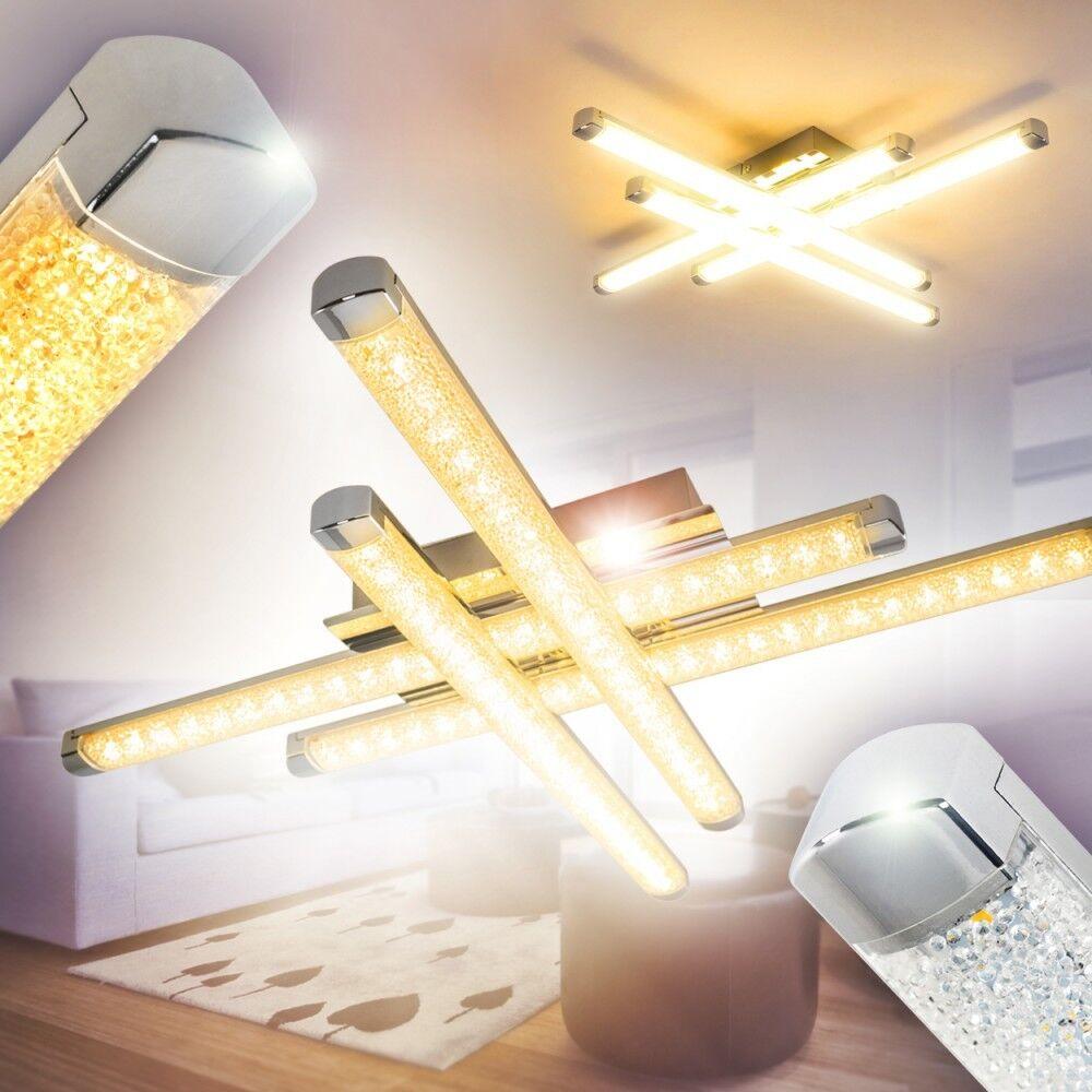 Led ceiling spot lighting IP 20 dining living room flush lamp Weiß decor 155594