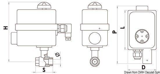 Ventil PN40 1/2 1/2 PN40 mit Panel Marke Osculati 17.240.02 48a67a