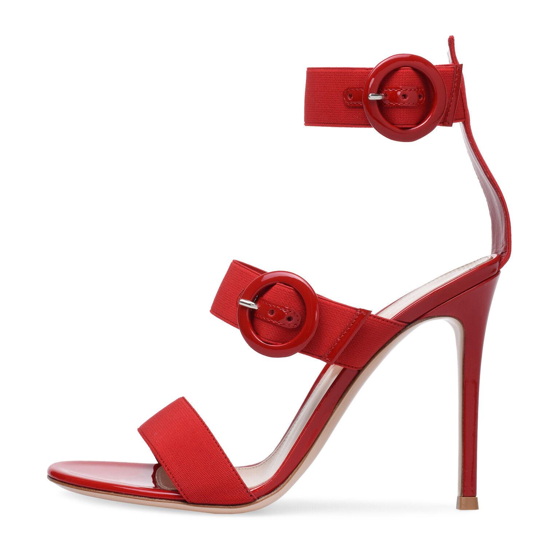 femmes High Heel Stiletto Elastic Straps Sandals Adjustable Buckle Summer chaussures