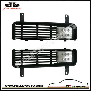 DBMOTOR-Dodge-Ram-Front-Bumper-Sight-Shield-With-LED-Spot-Lamp-Chrome